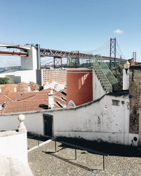 View over the Tejo from the Santo Amaro chapel
