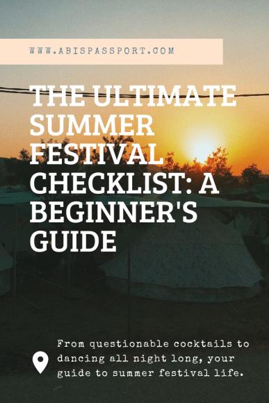 The Ultimate Summer Festival Checklist: A Beginner's Guide